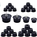 KINDPMA 80 Pcs Cuting Board Rubber Feet with Stainless Steel...