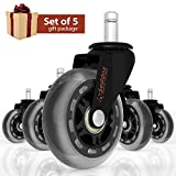 Rubber Desk Chair Casters-Highlighted Features