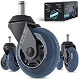 STEALTHO Patented Replacement Office Chair Caster Wheels Set of 5...