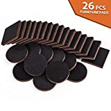Non Slip Furniture Pads 26PCS Rubber Furniture Grippers, Self...