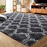 LOCHAS Luxury Velvet Shag Area Rug Modern Indoor Plush Fluffy...
