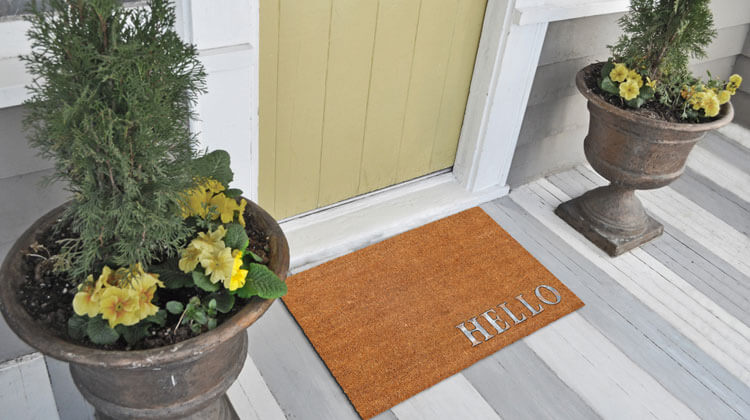 different types of door mats