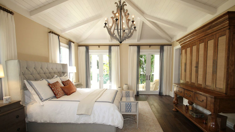 Long and Spacious White Room with Elegance and Comfort