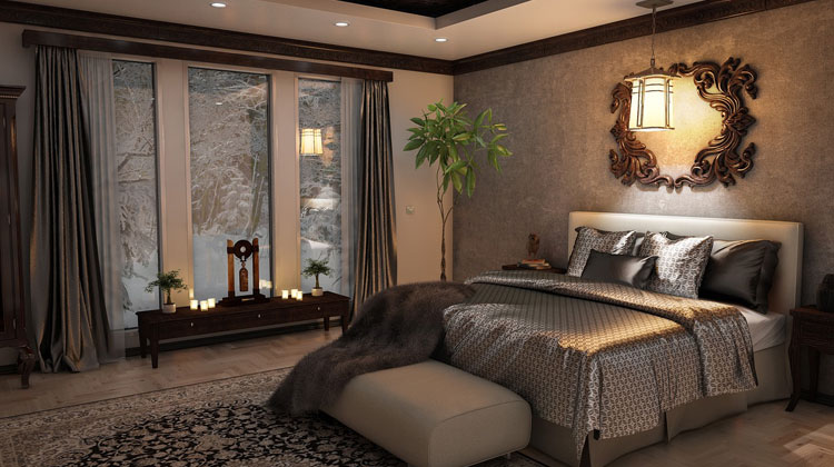 White Color Environment with Royal Accents