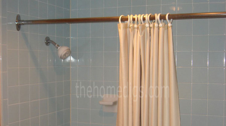 how to install shower curtain rod by yourself thehomedigs guide. Black Bedroom Furniture Sets. Home Design Ideas