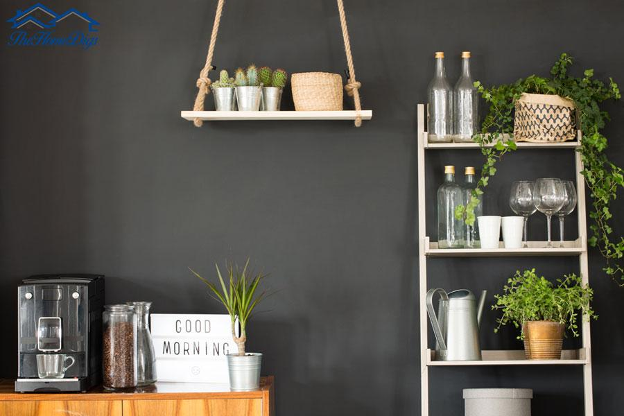 How To Decorate a Ladder Shelf