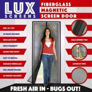 lux magnetic screen door