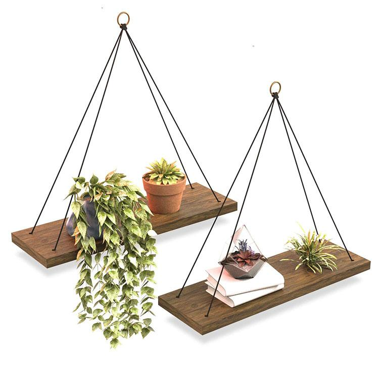 Boho Wall Hanging Shelf