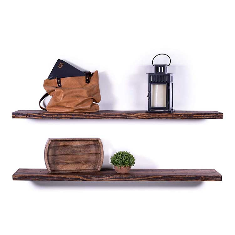 Deep Rugged Distressed Floating Shelves
