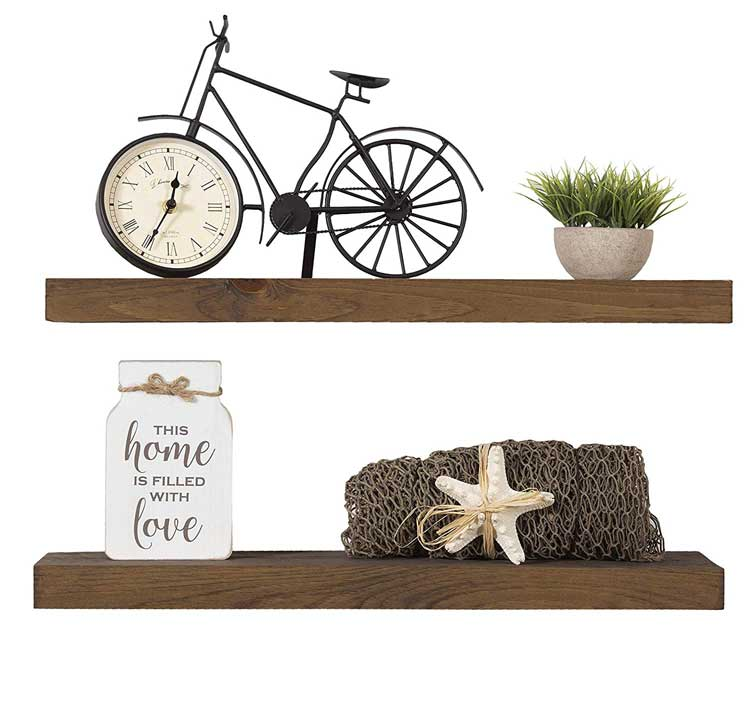 Imperative Décor Floating Shelves' Woods