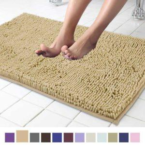 Microfibers Bath Mat for Bathroom Rugs Water Absorbent Carpet