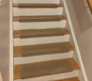 Carpet Stair Treads with Adhesive Strips