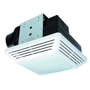 Air King - modern bathroom exhaust fan with led light