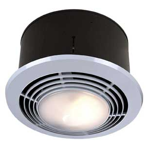 Broan-Nutone 9093WH - quiet bathroom exhaust fan with led light