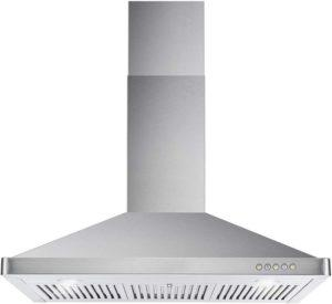 Cosmo-63190-36-in-Quietest wall mount range hood