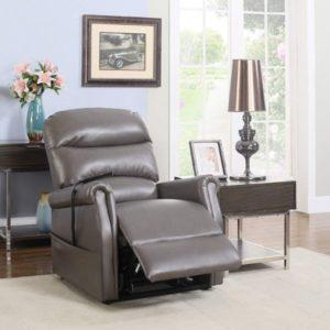 Divano Classic Plush Bonded Leather Power Lift Recliner