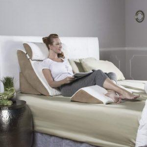 Back support pillow for reading in bed