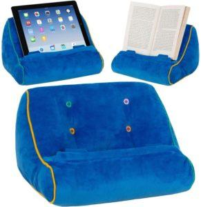 Pillow book holders for reading in bed