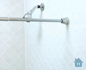 how to fix shower curtain rod from falling down