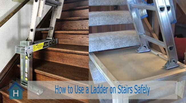 How to Use a Ladder on Stairs Safely Following 3 Ways 2