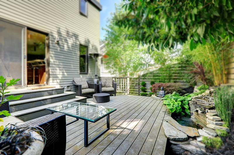 Patio Area with Glass Tabletop